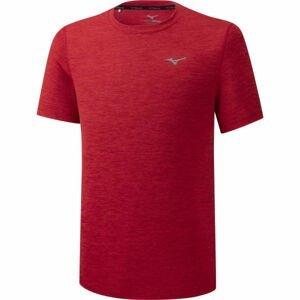 Mizuno IMPULSE CORE TEE červená XXL - Pánské běžecké triko