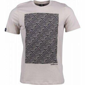 Umbro WARPED BRANDED TEE béžová XXL - Pánské triko