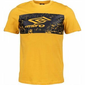 Umbro FANS TEE žlutá S - Pánské triko
