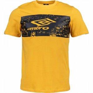 Umbro FANS TEE žlutá L - Pánské triko
