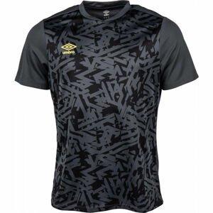 Umbro SHATTERED JERSEY tmavě šedá L - Pánské sportovní triko