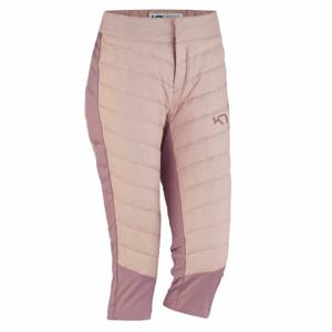 KARI TRAA EVA HYBRID CAPRI světle růžová XS - Dámské funkční 3/4 kalhoty
