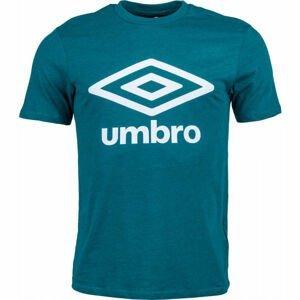 Umbro FW LARGE LOGO COTTON TEE zelená S - Pánské tričko