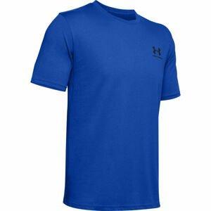 Under Armour SPORTSTYLE LC SS modrá XL - Pánské triko