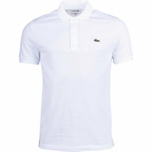 Lacoste SLIM SHORT SLEEVE POLO bílá S - Pánské polo tričko