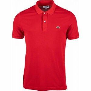 Lacoste SLIM SHORT SLEEVE POLO červená M - Pánské polo tričko