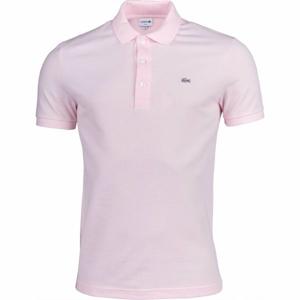 Lacoste SLIM SHORT SLEEVE POLO světle růžová XL - Pánské polo tričko