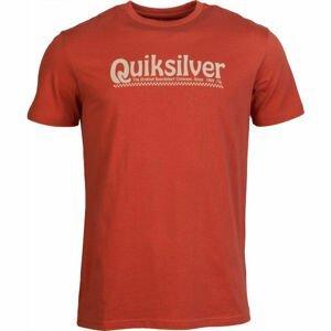 Quiksilver NEW SLANG SS červená XL - Pánské tričko
