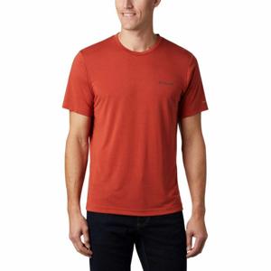 Columbia MAXTRAIL SS LOGO TEE oranžová L - Pánské triko