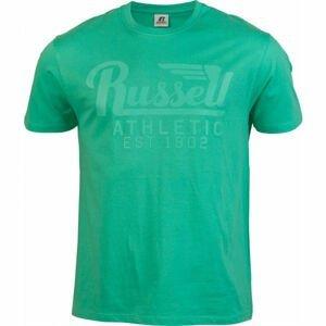 Russell Athletic WING S/S CREWNECK TEE SHIRT světle zelená S - Pánské tričko