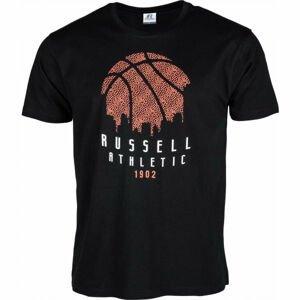 Russell Athletic B BALL SKY LINE S/S CREWNECK TEE SHIRT černá L - Pánské tričko