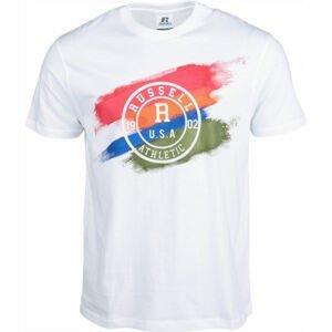 Russell Athletic SHADED S/S CREWNECK TEE SHIRT bílá XL - Pánské tričko