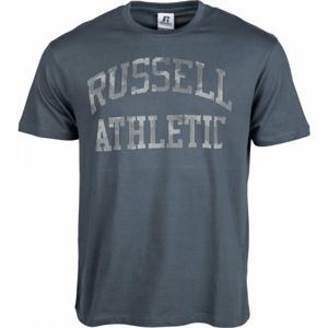Russell Athletic ARCH LOGO TEE tmavě šedá S - Pánské tričko