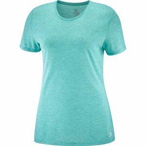 Salomon COMET CLASSIC TEE W HEATHER zelená L - Dámské triko