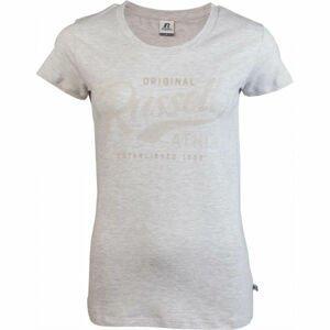 Russell Athletic ORIGINAL S/S CREWNECK TEE SHIRT šedá XL - Dámské tričko