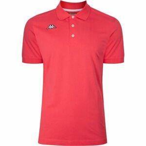 Kappa LOGO DIRK MSS POLO červená XL - Pánské polo triko