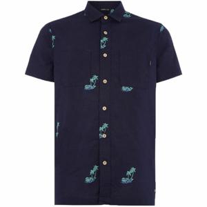 O'Neill LM PALM AOP S/SLV SHIRT tmavě modrá XL - Pánská košile