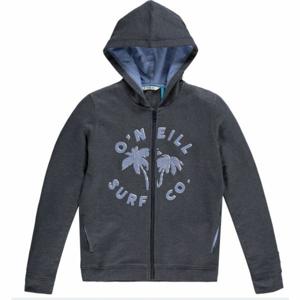 O'Neill LG EASY F/Z HOODIE tmavě šedá 104 - Dívčí mikina