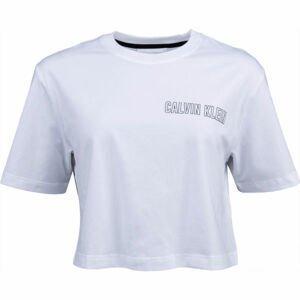 Calvin Klein CROPPED SHORT SLEEVE T-SHIRT bílá XS - Dámské tričko