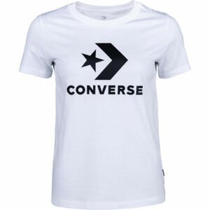 Converse STAR CHEVRON TEE bílá L - Dámské tričko