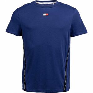 Tommy Hilfiger TAPE TOP modrá L - Pánské tričko