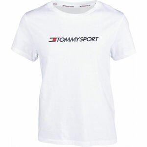 Tommy Hilfiger COTTON MIX CHEST LOGO TOP bílá M - Dámské tričko