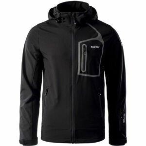 Hi-Tec NIKOS černá L - Pánská softshellová bunda
