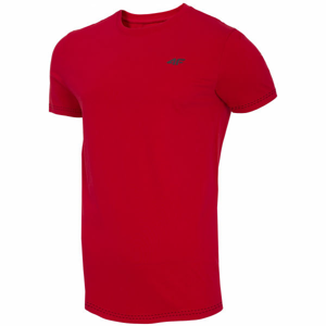 4F MENS T-SHIRTS červená S - Pánské tričko
