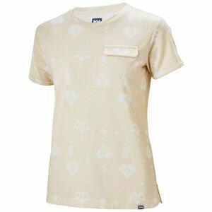 Helly Hansen LOMMA T-SHIRT béžová L - Dámské triko s krátkým rukávem
