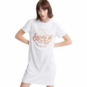Superdry CORE T-SHIRT DRESS bílá 14 - Dámské šaty