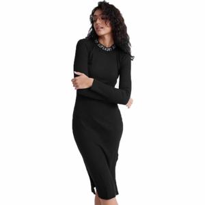 Superdry JACQUARD BODYCON LS MINI DRESS černá 14 - Dámské šaty