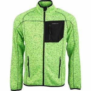 Willard WARD zelená XL - Pánská fleecová mikina svetrového vzhledu