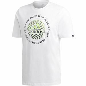 adidas M HYPRRL SLGN T bílá 2XL - Pánské tričko
