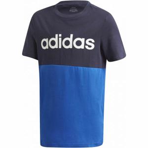 adidas YB LINEAR COLORBLOCK TEE černá 116 - Juniorské triko