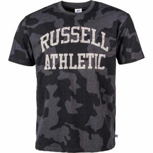 Russell Athletic S/S CREWNECK TEE SHIRT šedá M - Pánské tričko