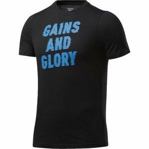 Reebok GS OPP TEE GRAPHIC černá L - Pánské tričko