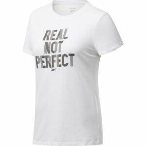 Reebok TE GRAPHIC TEE REAL bílá S - Dámské tričko