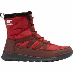 Sorel WHITNEY II SHORT LACE FU červená 8.5 - Dámská zimní obuv