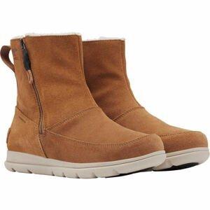 Sorel EXPLORER  ZIP hnědá 10 - Dámská zimní obuv