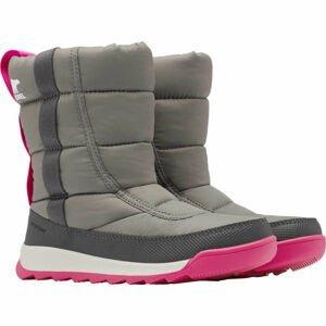 Sorel YOUTH WHITNEY II PUFFY M šedá 4.5 - Dětská zimní obuv