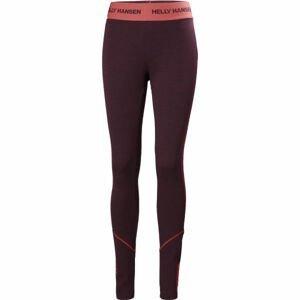 Helly Hansen W LIFA MERINO MIDWEIGHT PANT růžová S - Dámské Merino kalhoty