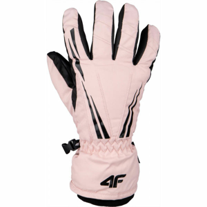 4F SKI GLOVES růžová L - Lyžařské rukavice