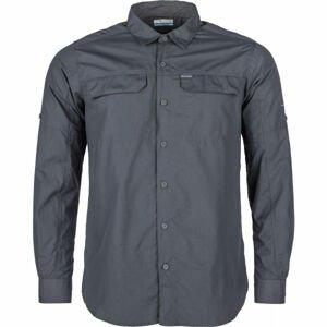 Columbia SILVER RIDGE 2.0 LONG SLEEVE SHIRT tmavě šedá S - Pánská košile