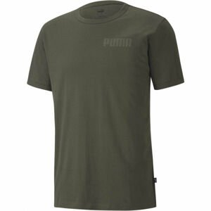 Puma MODERN BASICS TEE hnědá L - Pánské triko