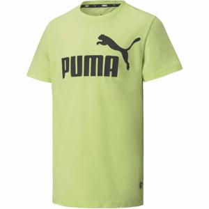 Puma ESS LOGO TEE B zelená 140 - Chlapecké triko