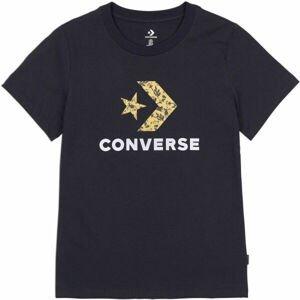 Converse FLORAL STAR CHEVRON GRAPPHIC TEE  L - Dámské tričko