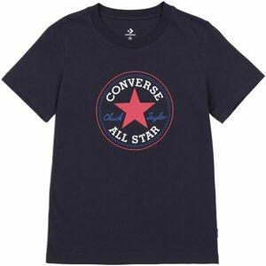 Converse CHUCK TAYLOR ALL STAR PATCH TEE  S - Dámské tričko