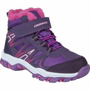 Crossroad CASIM fialová 28 - Dětská treková obuv