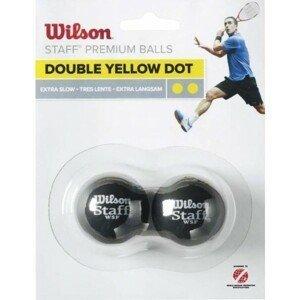 Wilson STAFF SQUASH 2 BALL DBL YEL DOT   - Squashový míček