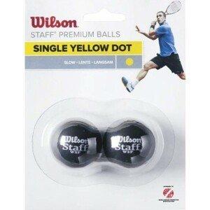 Wilson STAFF SQUASH 2 BALL YEL DOT   - Squashový míček